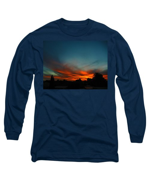 Red And Green Sunset Long Sleeve T-Shirt