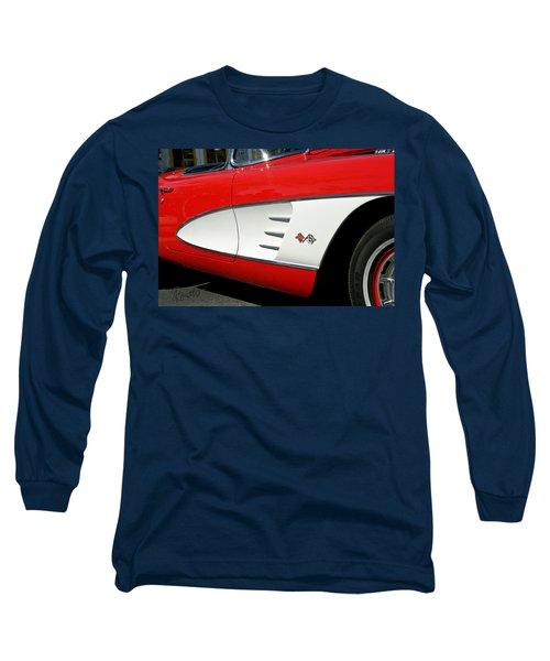 Red Corvette Long Sleeve T-Shirt