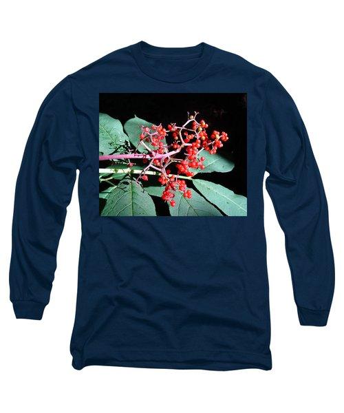 Red Elderberry Long Sleeve T-Shirt