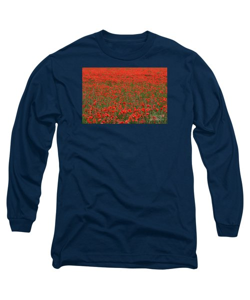 Long Sleeve T-Shirt featuring the photograph Red Field by Simona Ghidini
