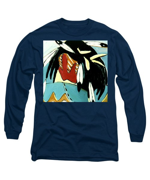 Red Indian Long Sleeve T-Shirt by Lance Headlee
