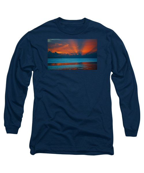 Tropical Florida Keys Red Sky At Night Long Sleeve T-Shirt