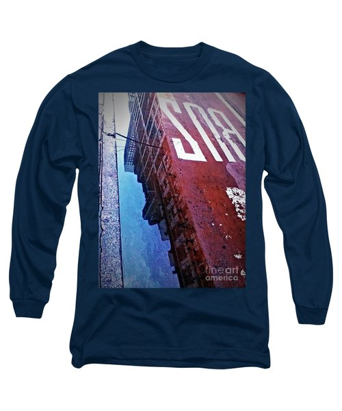 Reflecting On City Life Long Sleeve T-Shirt by James Aiken