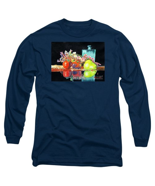 Reflections In Color Long Sleeve T-Shirt by Kathy Braud