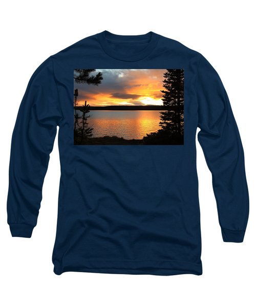 Reflections Of Sunset Long Sleeve T-Shirt by Athena Mckinzie