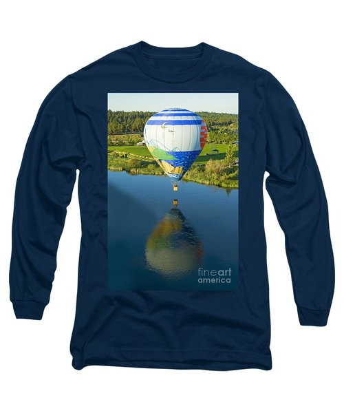 Long Sleeve T-Shirt featuring the photograph Reflections Over The Dechutes by Nick  Boren