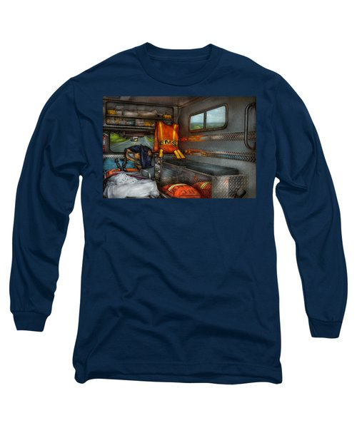 Rescue - Emergency Squad  Long Sleeve T-Shirt by Mike Savad