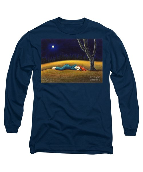 Rest For A Weary Heart Long Sleeve T-Shirt by Danielle R T Haney