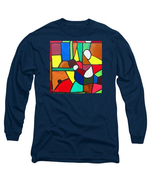 Long Sleeve T-Shirt featuring the painting Retired Boxer by Mudiama Kammoh