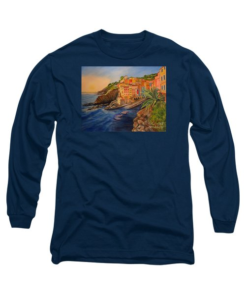 Riomaggiore Amore Long Sleeve T-Shirt by Julie Brugh Riffey