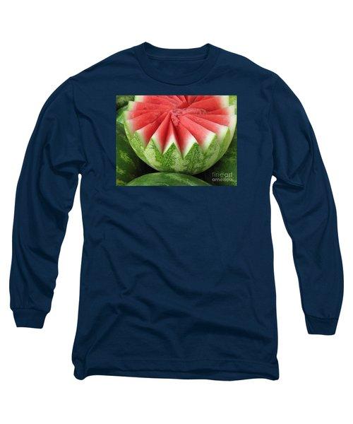 Ripe Watermelon Long Sleeve T-Shirt by Ann Horn