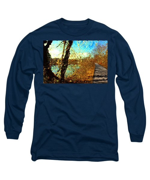 Riverwalk Long Sleeve T-Shirt by Terence Morrissey