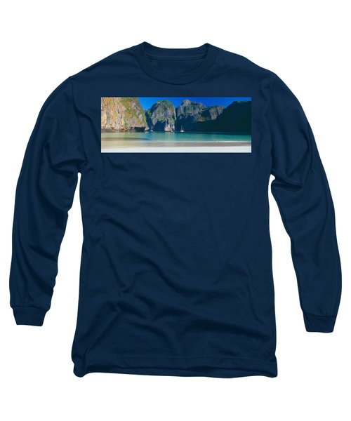 Rock Formations In The Sea, Phi Phi Long Sleeve T-Shirt