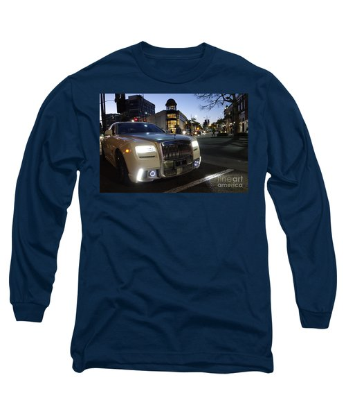 Rolls Royce Parked At The Bottom Of Rodeo Drive Long Sleeve T-Shirt