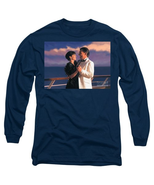 Long Sleeve T-Shirt featuring the painting Romantic Cruise by Tim Gilliland