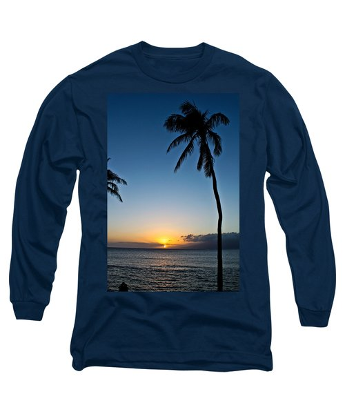 Romantic Maui Sunset Long Sleeve T-Shirt by Joann Copeland-Paul