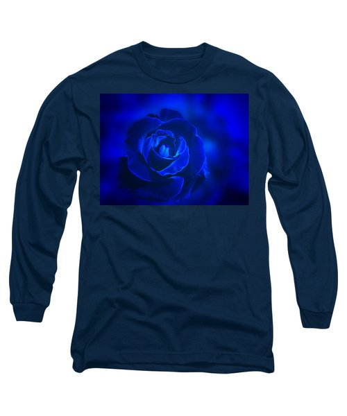 Rose In Blue Long Sleeve T-Shirt