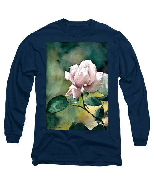 Watercolor Of A Lilac Rose  Long Sleeve T-Shirt