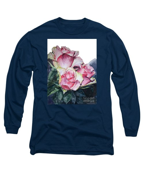 Pink Rose Michelangelo Long Sleeve T-Shirt by Greta Corens