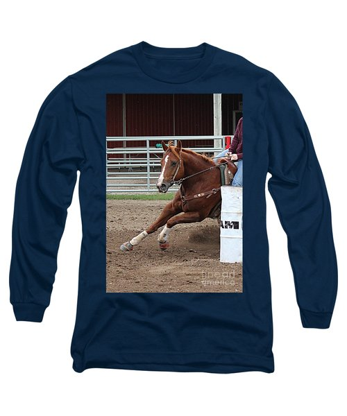 Long Sleeve T-Shirt featuring the photograph Rounding Third by Ann E Robson