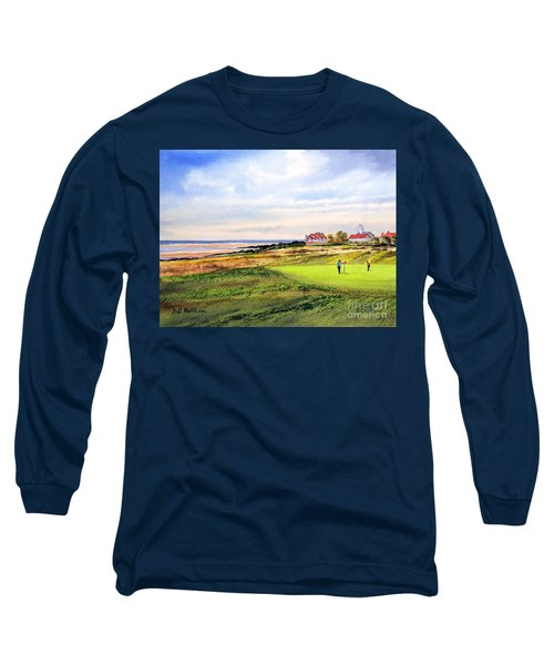 Royal Liverpool Golf Course Hoylake Long Sleeve T-Shirt by Bill Holkham