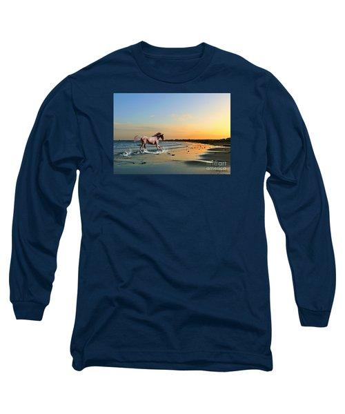 Run Like The Wind Long Sleeve T-Shirt by Morag Bates