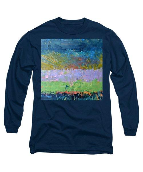 Rustic Roadside Series - Lilac Bushes Long Sleeve T-Shirt