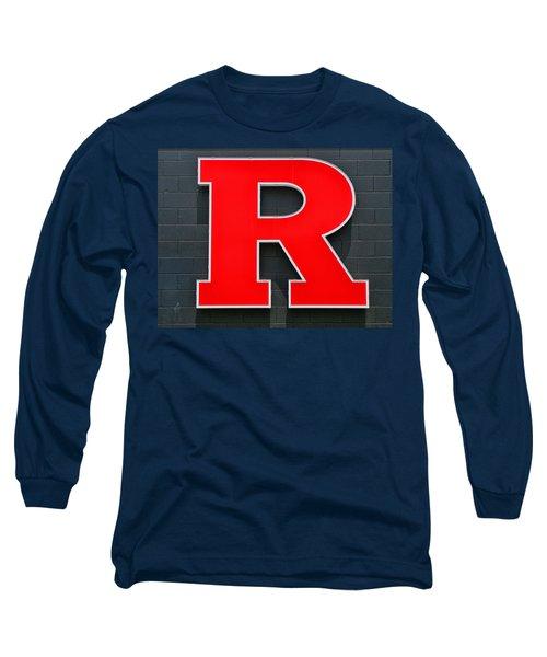 Rutgers Block R Long Sleeve T-Shirt by Allen Beatty