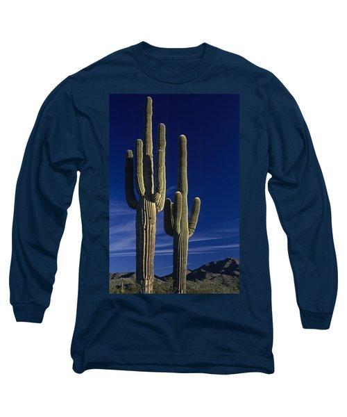 Saguaro Cactus Sunset Arizona State Usa Long Sleeve T-Shirt