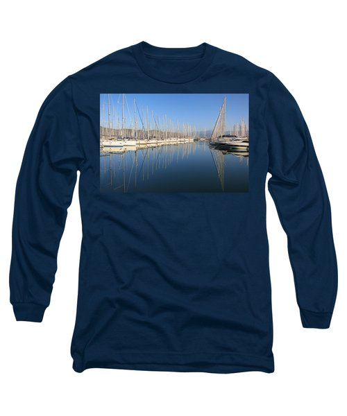 Sailboat Reflections Long Sleeve T-Shirt
