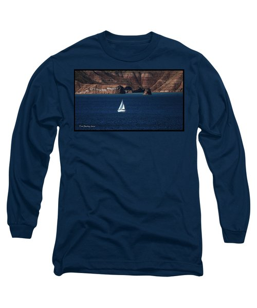 Sailing At Roosevelt Lake On The Blue Water Long Sleeve T-Shirt by Tom Janca