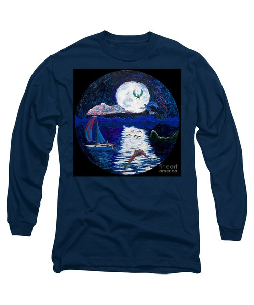 Sailing In The Moonlight Long Sleeve T-Shirt
