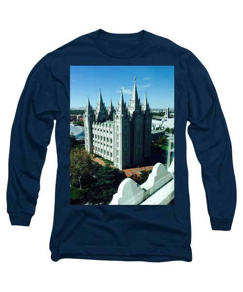 Salt Lake Temple The Church Of Jesus Christ Of Latter-day Saints The Mormons Long Sleeve T-Shirt by Richard W Linford