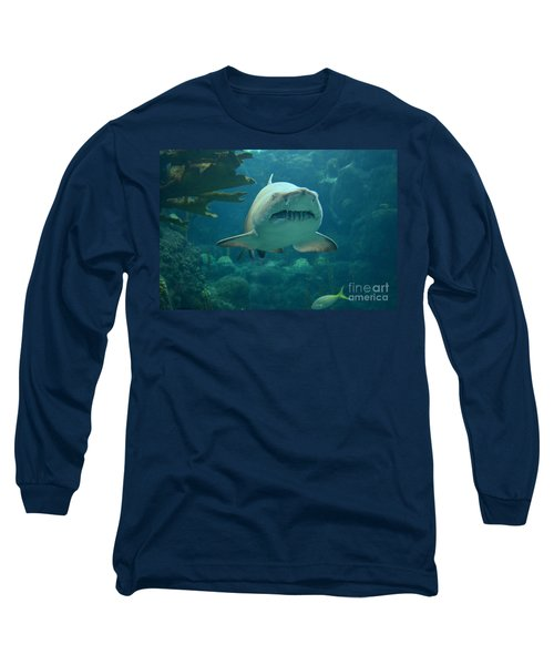 Long Sleeve T-Shirt featuring the photograph Sand Shark by Robert Meanor