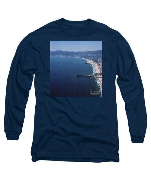 1960 Santa Monica Bay From The Air Long Sleeve T-Shirt