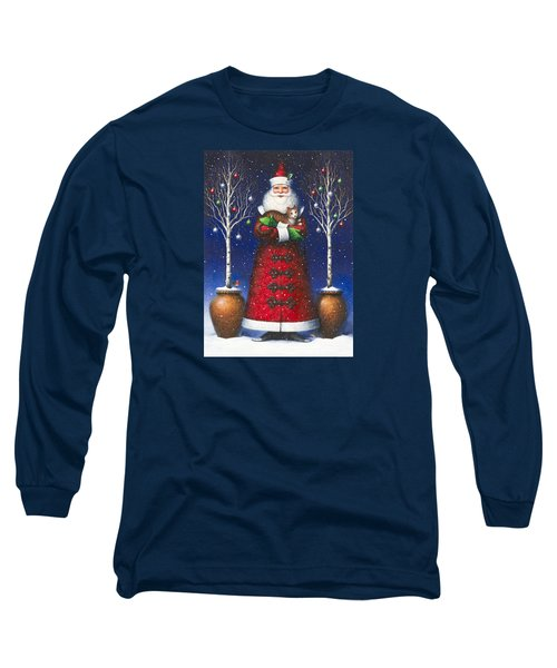 Santa's Cat Long Sleeve T-Shirt