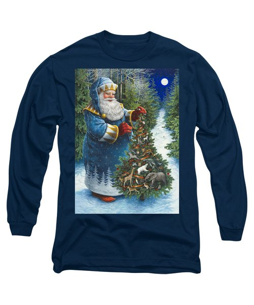 Santa's Christmas Tree Long Sleeve T-Shirt