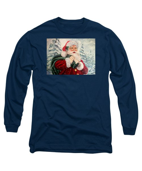 Santa's On His Way Long Sleeve T-Shirt