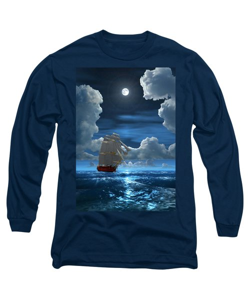 Santisima Trinida In The Moonlight 2 Long Sleeve T-Shirt