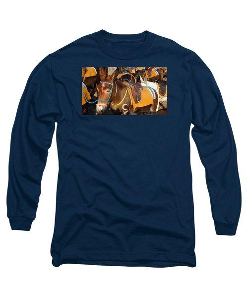 Santorini Donkeys Ready For Work Long Sleeve T-Shirt by Colette V Hera  Guggenheim