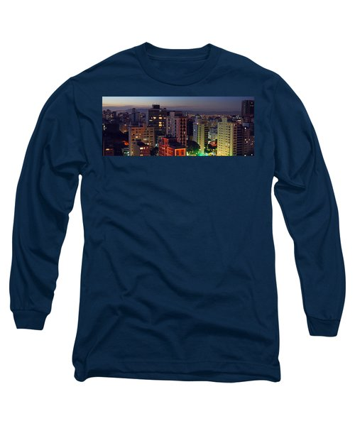 Sao Paulo Downtown At Dusk Long Sleeve T-Shirt