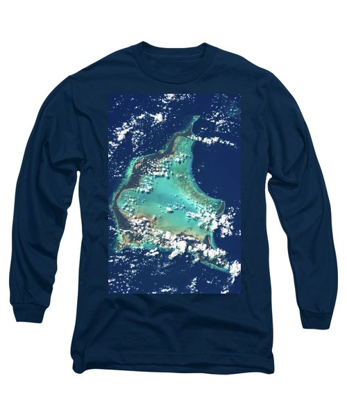 Satellite View Of Turks And Caicos Long Sleeve T-Shirt
