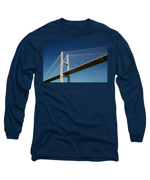 Savannah River Bridge Georgia Usa Long Sleeve T-Shirt