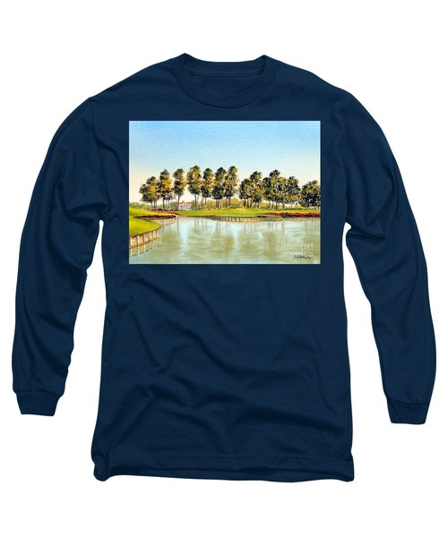 Long Sleeve T-Shirt featuring the painting Sawgrass Tpc Golf Course 17th Hole by Bill Holkham