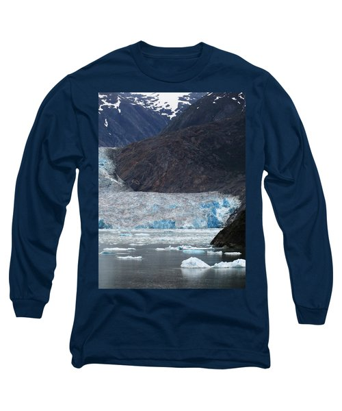 Long Sleeve T-Shirt featuring the photograph Sawyer Glacier Blue Ice by Jennifer Wheatley Wolf
