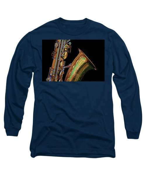 Long Sleeve T-Shirt featuring the photograph Saxophone by Dave Mills