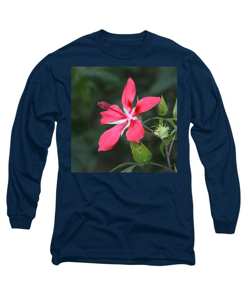 Scarlet Hibiscus #3 Long Sleeve T-Shirt
