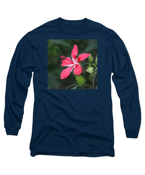 Scarlet Hibiscus #3 Long Sleeve T-Shirt