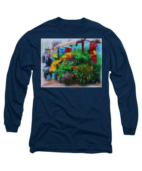 Scene From La Rambla Long Sleeve T-Shirt