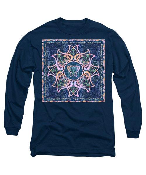 Scottish Blessing Celtic Hearts Duvet Long Sleeve T-Shirt
